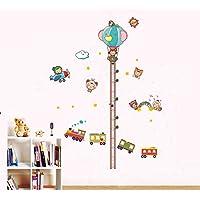 ufengke® Bel Bambino Adesivi Murali con Metri (70-180cm), Aereo Cartone Animato Treno e Mongolfiera, Camera (Treno Decorazione Della Parete Di)