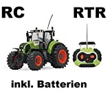 BUSDUGA RC Ferngesteuerter Traktor Claas Axion 850 Maßstab 1:16 passend zu den Bruder Anhänger - NEUHEIT inkl. Batterien - RTR (Ready-to-Run) Sofort Spielbereit - Lizenz NACHBAU