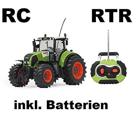 RC ferngesteuerter Traktor Claas Axion 850 Maßstab 1:16 passend zu den Bruder Anhänger - NEUHEIT inkl. allen Batterien RTR (ready-to-run) Sofort Spielbereit - LIZENZ NACHBAU in bester