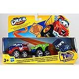 Hasbro - Tonka Chuck & Friends - DieCast - Paquete de 3 - Equipo de Carreras
