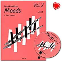 Moods Ruban 2avec CD–10mittelschwere poppig de rockige morceaux pour 2flûtes traversières–Note livre avec Note Pince