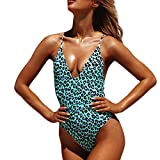 Tankini Bañadores Moda Mujer Color Sexy Traje de baño de una Pieza Ropa de Playa Bikini Conjunto Liquidación(Verde,M)