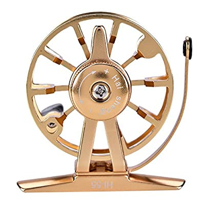 Dilwe Fly Fishing Reel, Aluminum Alloy Lightweight Portable Body Spool Wheel Fly Rod Tackle Accessory