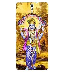ColourCraft Lord Vishnu Design Back Case Cover for SONY XPERIA C5 ULTRA