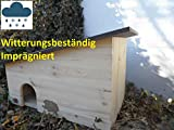 Arbrikadrex XXL Igelhaus Igelhotel 18mm Tannenholz Witterungsbeständig IMPRÄGNIERT Labyrintheingang easytouch-Rattenklappe