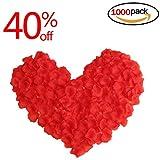 Isuper Rosenblüten 1000 Stück rote Rosenblätter Streublumen für Hochzeit Party Romantische Atmosphäre Deko Valentinstag Fasching romatische Überraschung (Rose Rot)