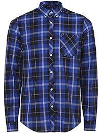 a1c0b123bf Fred Perry Men s Tartan Shirt M5551 139 L Blue