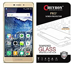 Chevron Tempered Glass For Coolpad Mega 2.5D / Coolpad Mega (5.5 Inch Display)