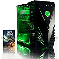 VIBOX Falcon 13 Gaming PC Computer with War Thunder Game Voucher (4.0GHz AMD FX Quad-Core Processor, Nvidia GeForce GTX 1050 Graphics Card, 8GB DDR3 1600MHz RAM, 1TB HDD, No Operating System)