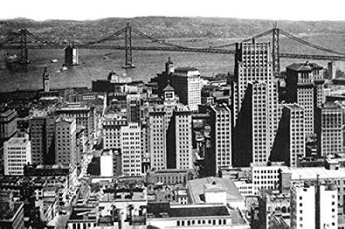 The Poster Corp Vintage San Francisco - Oakland Bay Bridge San Francisco CA #1 Kunstdruck (30,48 x 45,72 cm) (Oakland, Ca-poster)
