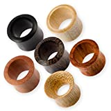 Fly Style Flesh Tunnel Holz Ohr Plug in vielen Verschiedene Holzarten | Größen 4-50 mm