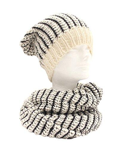 Scaldacollo/sciarpa ad anello e berretto