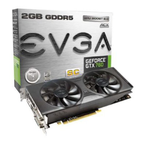 Price comparison product image EVGA Nvidia GeForce GTX 760 Superclocked ACX 2GB GDDR5 Graphics Card