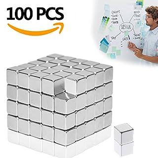 Aodoor Neodym Magnete, Magnete extra stark für Glas-Magnetboards, Magnettafel, Whiteboard, Tafel, Pinnwand, Kühlschrank, und vieles mehr,5 x 5 x 5 mm [100 Stücke]