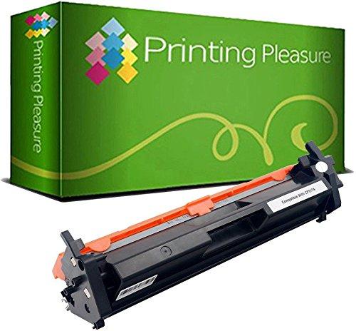 Printing Pleasure CF217A 17A - Cartucho de tóner Compatible con HP Laserjet Pro MFP M130nw M130fn M130fw M130a M102a M102w (1600 páginas), Color Negro.