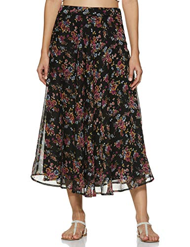 Styleville.in Synthetic a-line Skirt (SSKF350347_Multicolor_M)