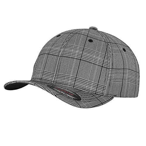 Flexfit Cap Plaid Grey / White - S-M