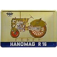Cartel de Chapa R16 Tractor 20 x 30 cm Diseño ...