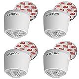 sebson Hitzemelder mit 10 Jahres Batterie, fest verbaute Lithium Langzeit-Batterie, Mini Wärmemelder für Küche/Bad, Ø50x43,5mm, inkl. Magnetbefestigung, 4er Pack