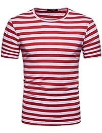 Amazon Camiseta es Ropa Y Rojas Blancas Hombre Rayas HHr5pZxnv