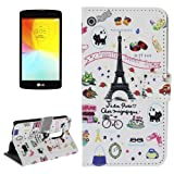 alsatek Case Cover For LG L Fino PU Leather Tree