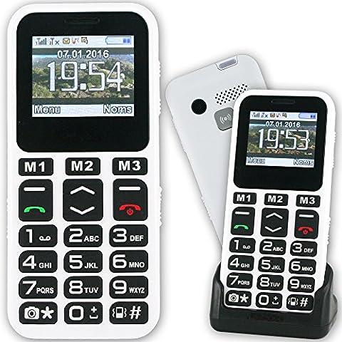 Mobiho-Essentiel le CLASSIC MAX 2, Seniors - Un modèle COMPLET et SIMPLE à la fois avec un beau design blanc, bonne prise en main et : Grosses touches - blocage clavier facile - un son classique - Bluetooth - APPAREIL PHOTO ET VIDEO- emplacement carte micro SD - SMS (pas MMS) - Ecran couleur, Chiffres écrits gros sur l