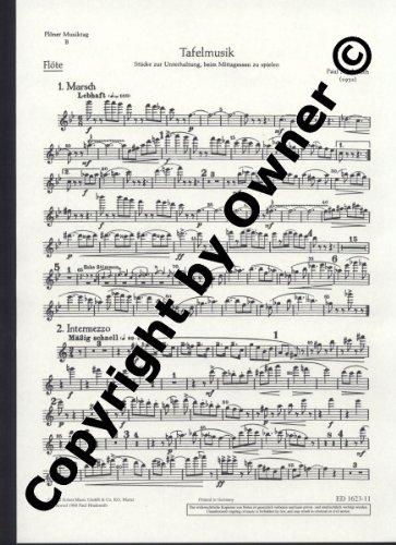 Plöner Musiktag: B Tafelmusik. Flöte, Trompete oder Klarinette und Streicher (hoch, mittel, tief). Flöte.