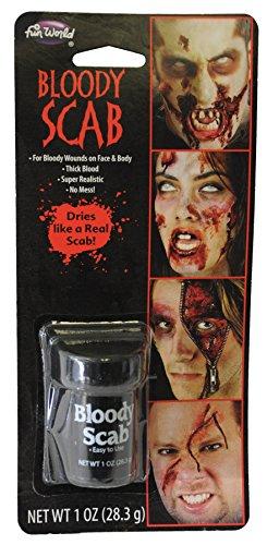 Wundschorf Verkrustetes Blut - dickes Kunstblut Schürfblut für Halloween Horror FX Spezial ()