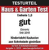 Clatronic SKB 3248 Schokoladenbrunnen, INOX, für Jede Schokolade und Karamell mit Schmelz-und Fließfunktion - 4