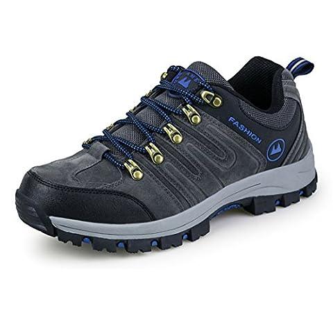ailishabroy Chaussures de randonnée pour hommes Hommes Imperméables Chaussures de randonnée légère (43 EU, Gris)
