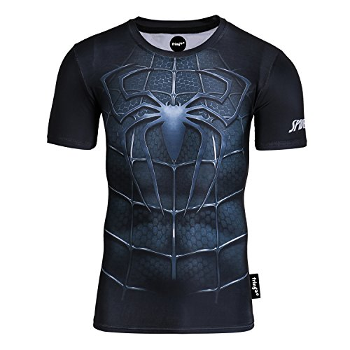 4c37f5b7efb Fringoo Mens Compression Superhero T-Shirt Base Layer Gym Long Sleeve  Running Thermal Sweatshirt Workout Top Spider Superman Bat – Ultimate  Superheroes