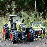 Honey Ferngesteuertes Modellauto, 1:16 Fernbedienungsauto Ferngesteuertes Spielzeugauto Traktor-Modell Gabelstapler Bulldozer Ackerland Schiebetechnik LKW Farmfahrzeug Spielzeug (Farbe: grün)