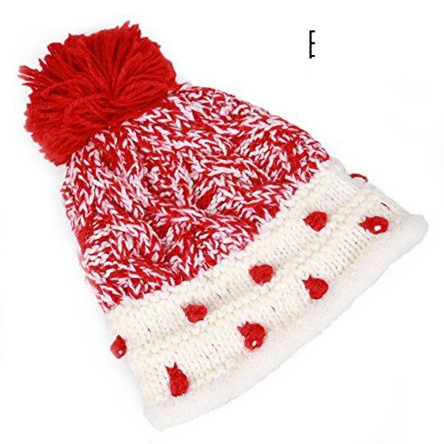 cap Mode plus de velours chaud tricot/chapeau de laine épaisse oreille B