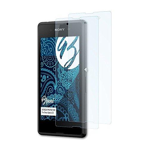 Bruni Schutzfolie kompatibel mit Sony Xperia E3 Folie, glasklare Bildschirmschutzfolie (2X)