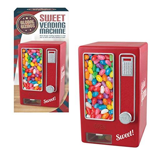Global Gizmos Retro Style Sweet Automaten (keine Batterien erforderlich), rot, 16x 14x 30cm