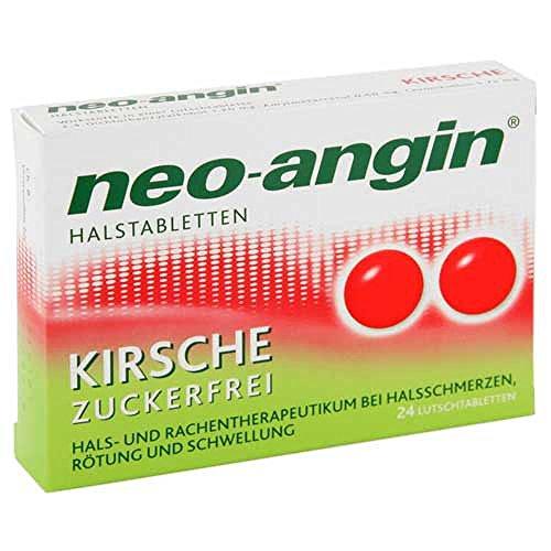 Neo-angin Kirsche Halstabletten, 24 St.