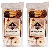 Dolci Aveja Pasticceria Frolla Mista Artigianale Biscotti da Tè - Pacco da 2 x 350 g