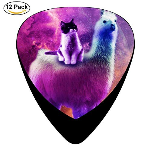 12-Pack Celluloid Kitty Cat Rainbow Llama In Space Guitar Picks