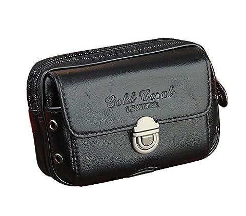 Genda 2Archer Petite Pochette argent ceinture sac en cuir voyage sécurité accessoire transporter