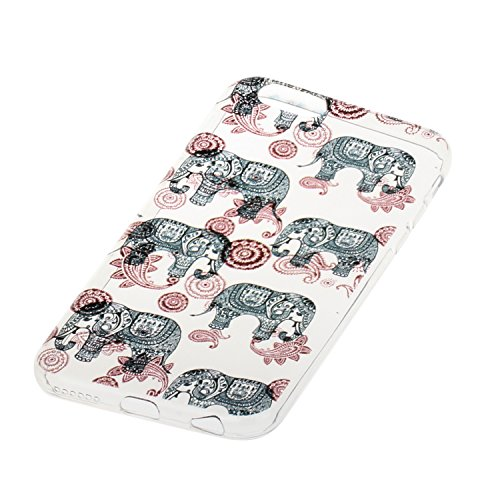 Etsue custodia per iPhone 6/6S 4.7 TPU case cover custodia in silicone caso di gomma flessibile morbido silicone paraurti soft gel slim fit ultra sottile misura flessibile liscia caso anti scratch tra *13