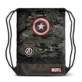 51iQ8UNiPpL. SS324  - Karactermania Captain America Army-sacca Storm Bolsillo Suelto para Mochila 48 Centimeters (Multicolour)