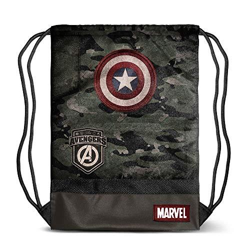 Karactermania Captain America Army-sacca Storm Bolsillo Suelto para Mochila 48 Centimeters (Multicolour)