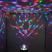 KAIPUZM LED Bola Magica Lampara Sonido Activado Estroboscópico RGB Effet Bar Festivité KTV Discoteca DJ Luce