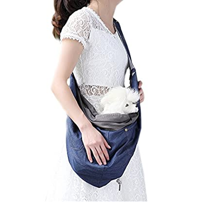 SYSTOND Upgraded Dog Sling Carrier Pet Single Shoulder Backpack Anti-jump Out Bag Puppy Outdoor Travle Tote Handbag with… 1