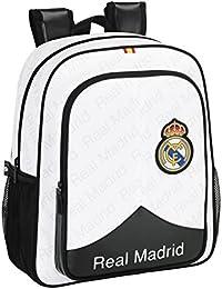 Safta Real Madrid Mochila Junior Adaptable, Color Blanco