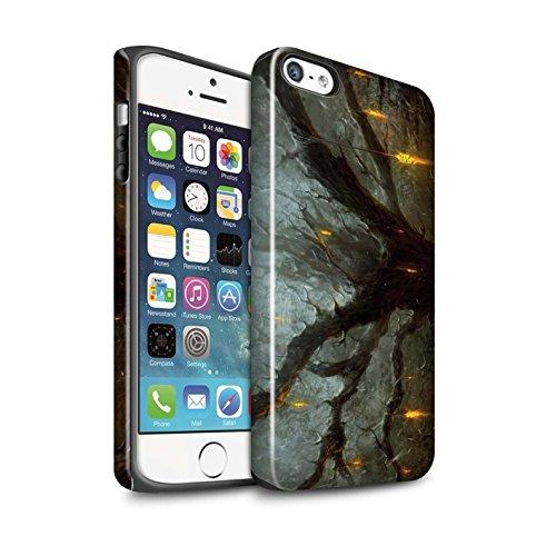 Offiziell Chris Cold Hülle / Glanz Harten Stoßfest Case für Apple iPhone SE / Dragonfel Tempel Muster / Gefallene Erde Kollektion Baum des Wissens