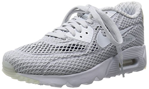 Nike Air Max 90 Ultra Br Plus Qs, Chaussures de Running Entrainement Homme, Bleu Argenté / Blanc / Bleu (Pure Platinum / White-Racer Blue)