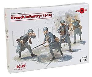 ICM 035691-Maqueta de de plástico, 1/35WWI Francés de Infantería