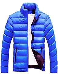 abrigos hombre invierno largos 2017 Sannysis cardigans cremalleras de bolsillo chaquetas hombre moto deportivas invierno baratos gruesa burbuja abrigo