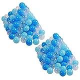 Knorrtoys 56772 56772-Bälleset Ø6 cm-200 Balls/Soft Blue/White Spielball